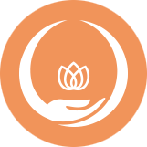 icon of two hands encircling a flower above them